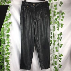 BlankNYC high rise faux leather straight leg pants